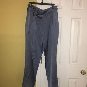 New Vince Camuto Dusty Blue Satin Dress Pants
